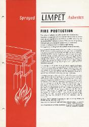 1961 Turner & Newall Sprayed LIMPET Asbestos Fire Protection
