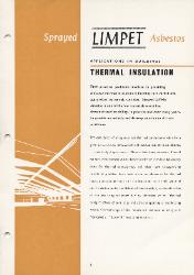 1961 Turner & Newall Sprayed LIMPET Asbestos Thermal Insulation