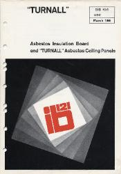 1966 Turner & Newall TURNALL Asbestos Insulation Board and Asbestos Ceiling Panels