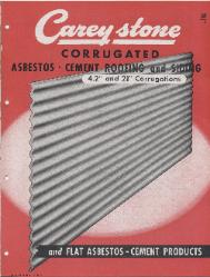 1947 The Philip Carey Manufacturing Company ASBESTOS