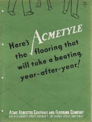 1949 ACME Asbestos Covering and Flooring Company