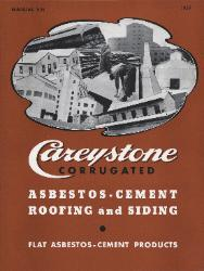 1939 The Philip Carey Company ASBESTOS