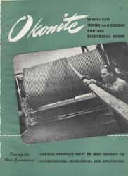 1945 The Okonite Company ASBESTOS