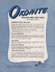 1944 The Okonite Company ASBESTOS