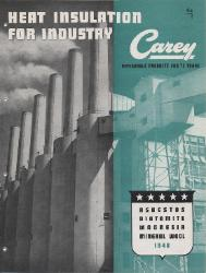 1948 The Philip Carey Manufacturing Company ASBESTOS