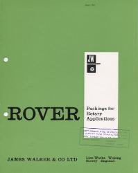 1968 James Walker & Co. Ltd.  Catalog ASBESTOS ROVER Packings for Rotary Applications